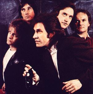 The Kinks 1983: Ian Gibbons,  Mick Avory, Ray Davies, Dave Davies, Jim Rodford (left to right)